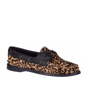Sperry Top - Sider Leopard Boat Shoes